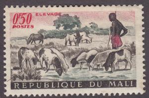 Mali 16 Shepherd and Sheep 1961