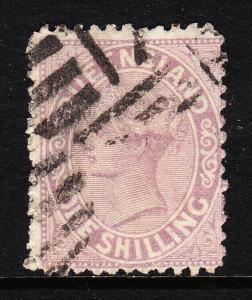 QUEENSLAND — SCOTT 61 (SG 145) — 1/- VICTORIA PALE LILAC — USED — SCV $15.00