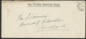 NEW ZEALAND 1906 OPSO cover Paeroa to Auckland.............................62011