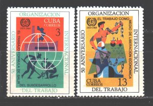 Cuba. 1969. 1471-72. 50 years of labor organization. MNH.