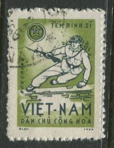 Viet Nam North - Scott M10 - Rifleman Jumping -1965 - FU -Single  Stamp