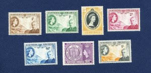 NORTHERN RHODESIA - 54-60 - VF very light hinged - 1953