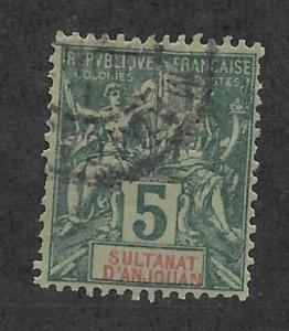 ANJOUAN Scott #4 Used stamp 2013 CV $5.25