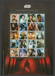 GB 2017 Star Wars composite sheet UNMOUNTED MINT/MNH
