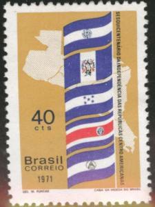 Brazil Scott 1196 MH* 1971 Flag stamp CV$1.25