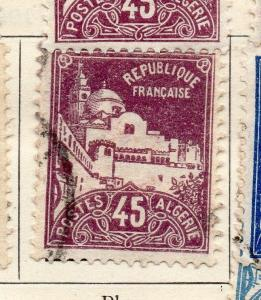Algeria 1926-27 Early Issue Fine Used 45c. 223373