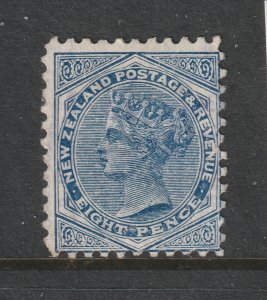 New Zealand a MNG QV 8d from the 1882 series perf 11