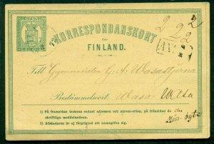 FINLAND Norma PK1 III, 8pen postal card, used, VF, Norma $40.00