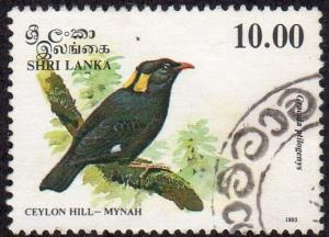 Sri Lanka 1082 - Used - Ceylon Hill-Mynah (1993) (cv $2.00) (1)