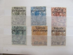 Italy  Parcel post stamps #58-63  used    1890  o/p