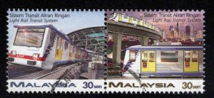 Malaysia Scott 619-620 Used pair of light rail stamps