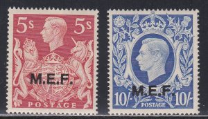 Great Britain - Middle East Forces # 14-15, Light Hinged, 1/3 Cat.
