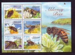 Alderney Sc 343a 2009 Bees stamp sheet mint NH