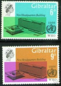 GIBRALTAR 1966 WHO MNH** Stamps Scott 180-1