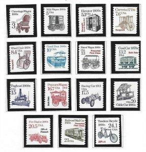 1987-1988 Transportation Coils, (2252-2266)(15)