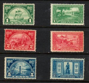 #614-619 Walloon Lexington Comp sets Mint OGNH