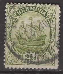 Bermuda; 1923: Sc. # 86: O/Used Single Stamp