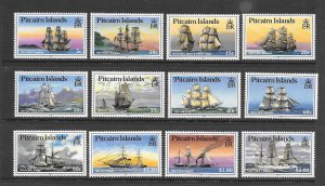 PITCAIRN ISLANDS #298-309  SHIPS  MNH