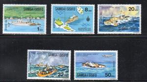 Samoa Sc 415-19 1975 Sinking of Joyita stamp set mint NH