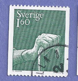 Sweden Scott #1322 Hand Holding Cane CV $.20, Used