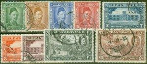 Sudan 1935 General Gordon Set of 9 SG59-67 Fine Used