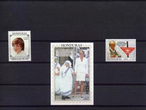 Honduras Diana Princess/M.Teresa (2)+SS mnh SC#C1011/1013