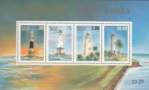 Sri Lanka MNH S/S 1150a Lighthouses 1996