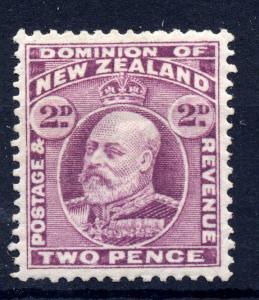 New Zealand 1902 sg 388 2d mauve (comb perf) LM