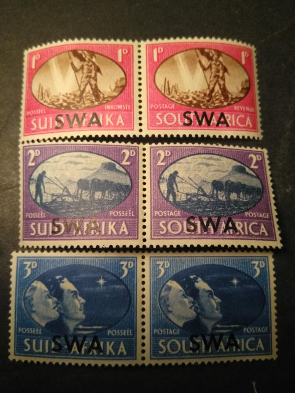 1938 South West Africa overprint South Africa S.W.A