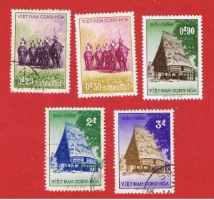 Vietnam #63-67  VF used  Hunters & Dwellings  Free S/H