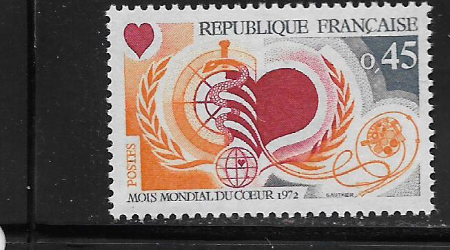 FRANCE, 1333, MNH, YOUR HEART IS YOUR HEALTH
