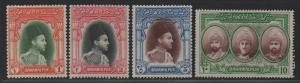 $Pakistan-Bahawalpur Sc#12-15 M/LH/VF, ink writing on back, Cv. $170