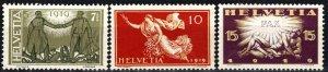 Switzerland #190-92 F-VF Unused CV $7.80  (P37)