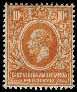 EAST AFRICA and UGANDA SG68, 10c orange, M MINT.