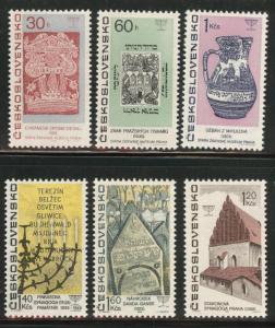 Czechoslovakia Scott 1475-80 MNH**  stamp set CV$6.60