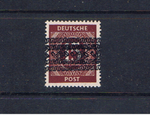 GERMANY 1948 ALLIED OCCUPATION 15pf DOUBLE OVERPRINT