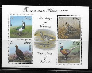 IRELAND, 758A, MNH, MINI SS OF 4, GAME BIRDS