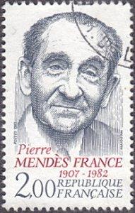 France # 1906 used ~ 2fr Premier Pierre Mendes France