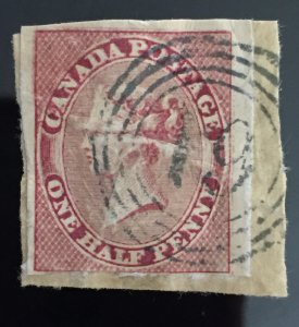 Canada stamp one half penny (united pence cents)
