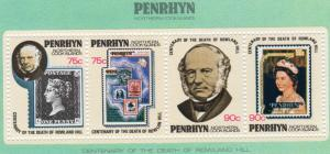 Penrhyn Island 1979 Sc#108c Sir Rowland Hill Stamp on Stamp Souvenir Sheet MNH
