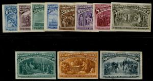 #230-240P3 F/VF SHORT SET 1¢-50¢ PLATE PROOFS ON INDIA W/ FAULTS CV $910 BQ3402