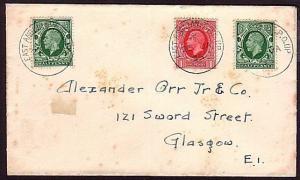 GB 1935 cover EAST ANGLIAN TPO UP railway cancel................34469