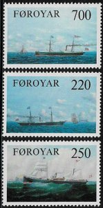 Faroe Is. 90-2 MNH Set - Cargo Ships