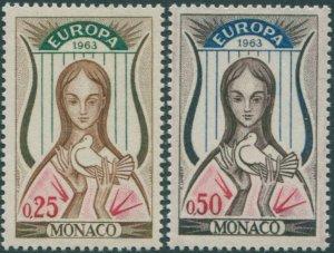 Monaco 1963 SG772-773 Europa MNH