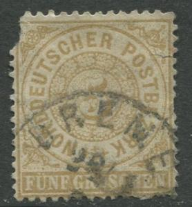 North German Federation - Scott 18 - Definitive -1869 - Used - 5gr Stamp
