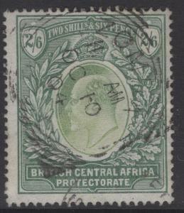 NYASALAND SG63 1903 2/6 GREY-GREEN & GREEN FINE USED