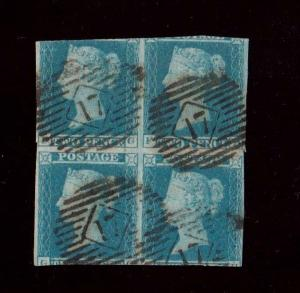 Great Britain #4 Rare Used Block