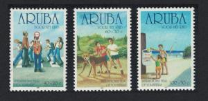 Aruba Dog Child Welfare International Year of Volunteers 3v SG#296-298