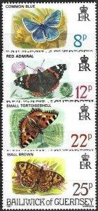 1981 Guernsey Butterflies, Papillons, Farfalle complete set VF/MNH! LOOK!