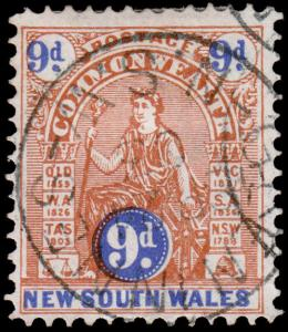 New South Wales Scott 108 (1903) Used H F-VF, CV $7.25 M